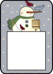 Snowman Post It Notes Holder
