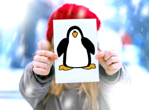Penguin Outline - 13 Cute Free Penguin Templates - NorthPoleChristmas.com