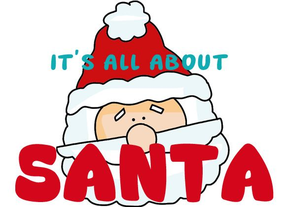 Santa Clipart, Crafts, Printables