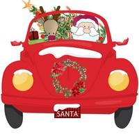 VW Printable Image with Santa