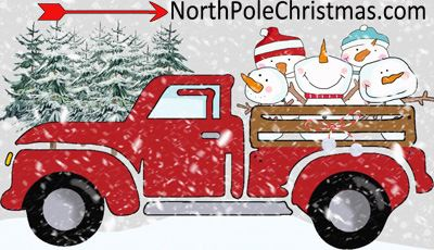 15 Christmas Truck Clipart - Vintage Trucks at NorthPoleChristmas.com