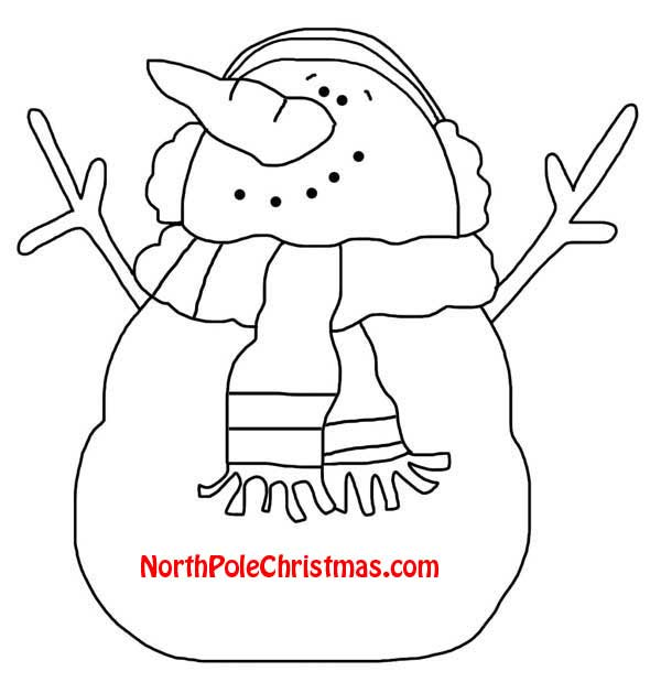 Jolly Snowman Template - Northpolechristmas.Com - Printable