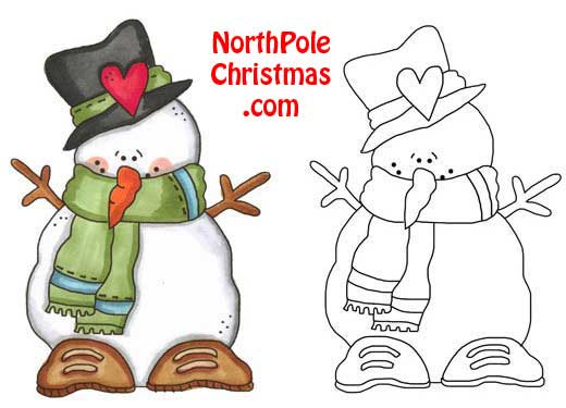 Freezin Snowman Template  NorthpolechristmasCom  Printable