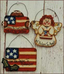 Tole painting - Patriotic Ornaments wood craft patterns
